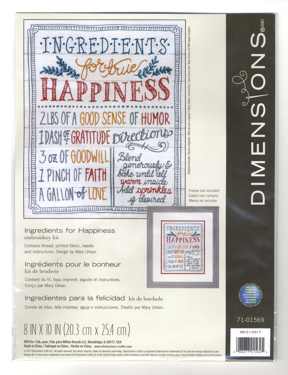 Dimensions - Ingredients for Happiness