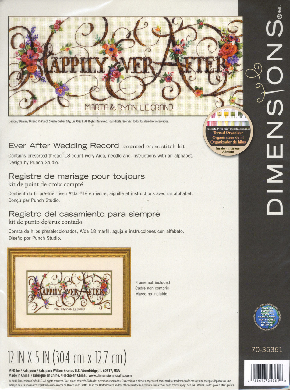 Dimensions - Ever After Wedding Record