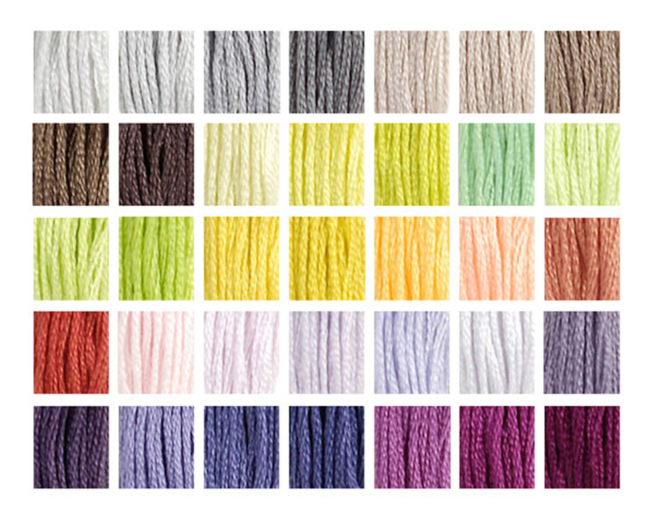 DMC #s 1 - 35 New 2017 Colors Hand Collated Set