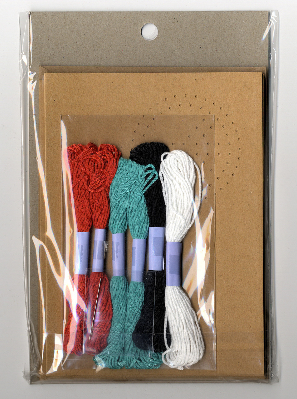 Dimensions - Stitched Cards (6 cards, 3 designs)