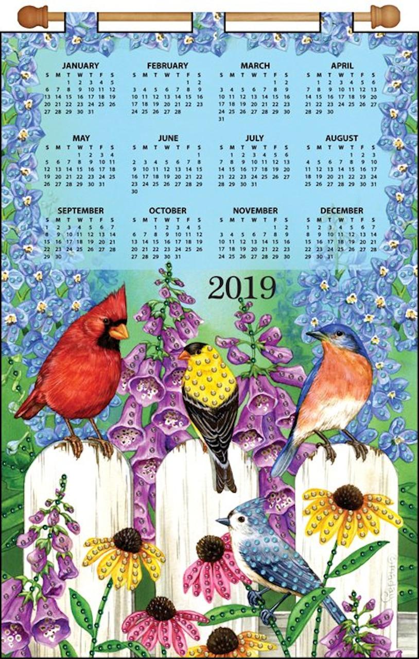 Design Works - Birds on Fence 2019 Calendar