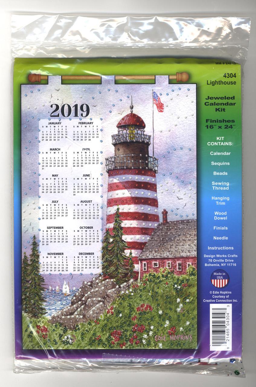 Design Works - Lighthouse 2019 Calendar