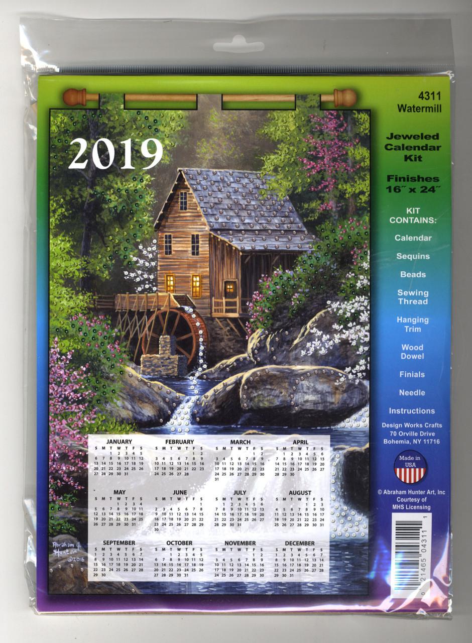 Design Works - Watermill 2019 Calendar