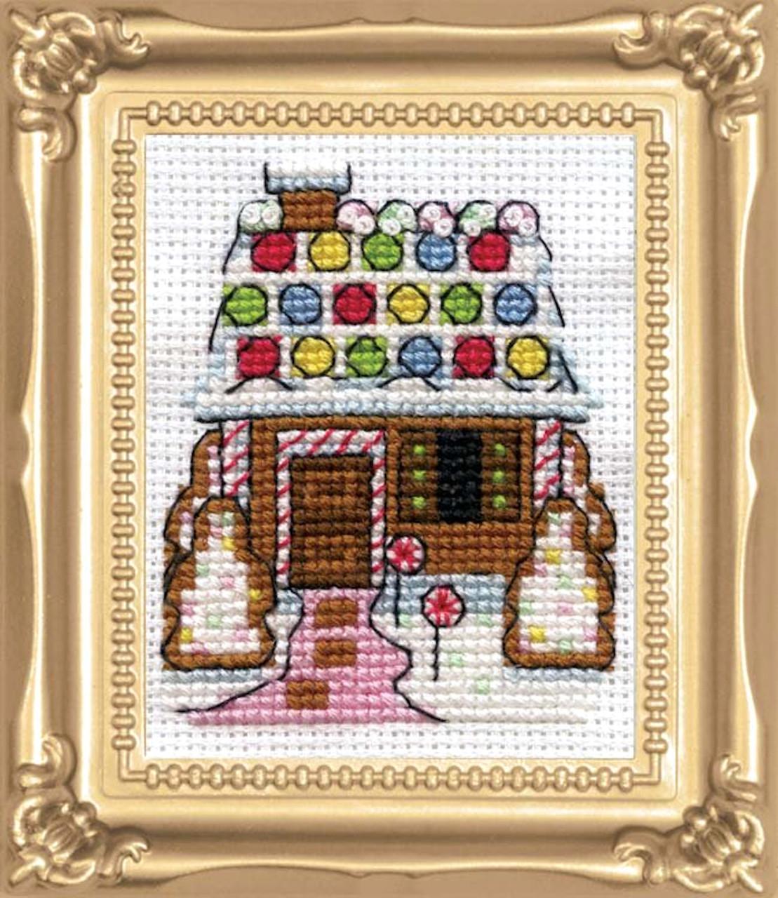Design Works - Gingerbread House Picture Kit w/Frame - CrossStitchWorld