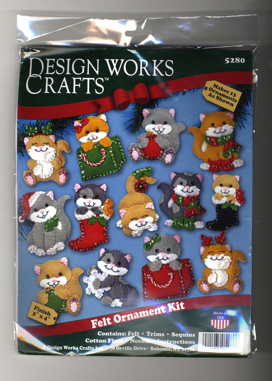 Design Works - Holiday Cats Ornament Set (13)