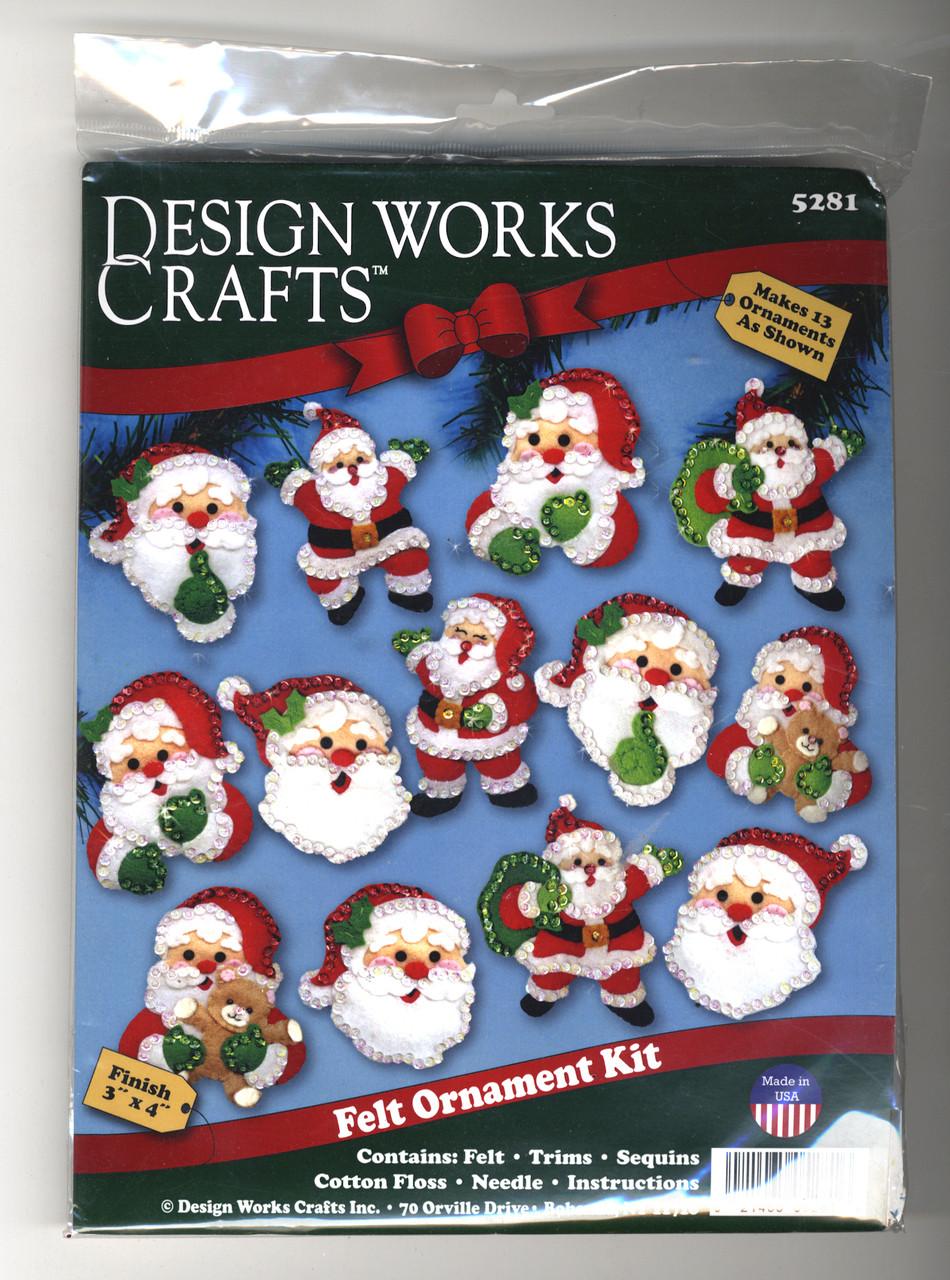 Design Works - Joyful Santas Ornament Set (13)