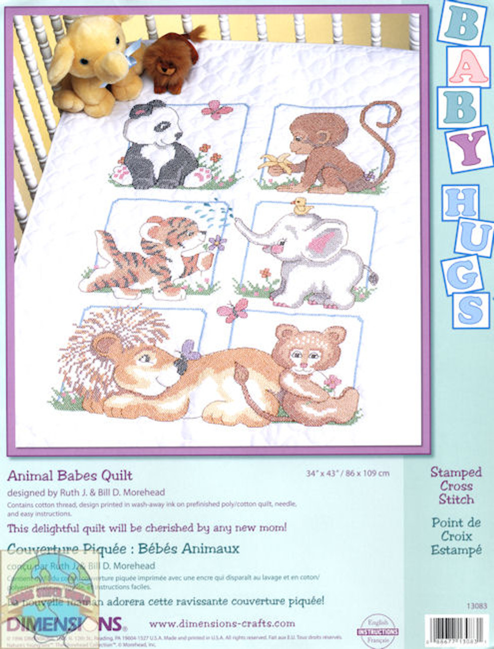 Dimensions Baby Hugs - Animal Babes Quilt