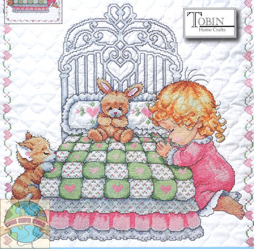 Design Works - Bedtime Prayer Girl Quilt