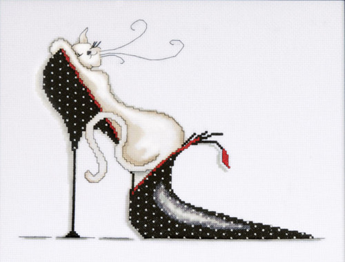 Design Works - Polka Dot Shoe Kitty
