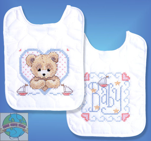 Design Works - Bedtime Prayer Boy Bib Set