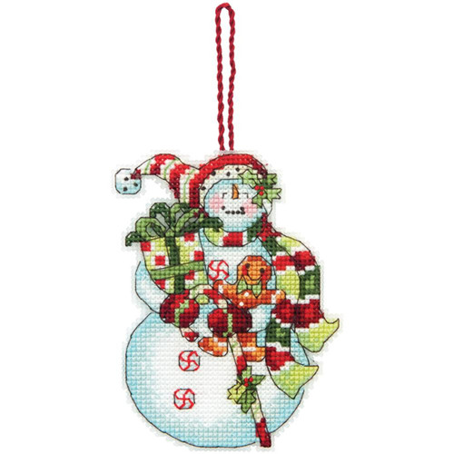 Dimensions - Snowman with Sweets Ornament