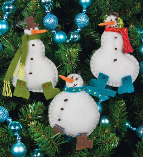 Dimensions -  Simple Snowmen Ornaments