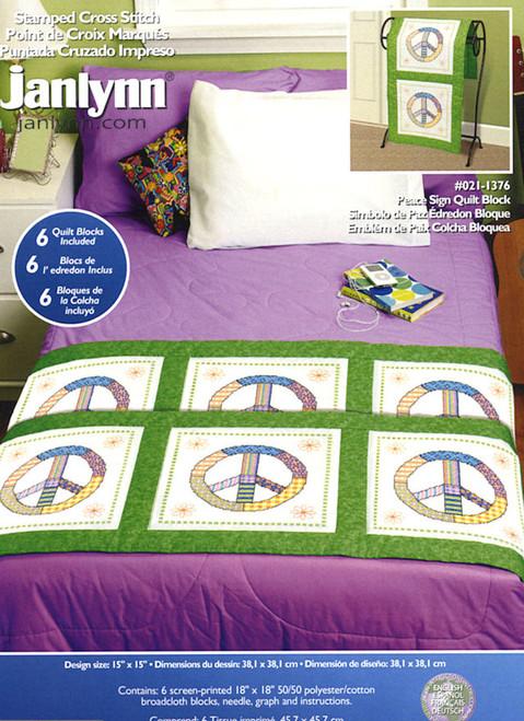 Janlynn - Peace Sign Quilt Blocks