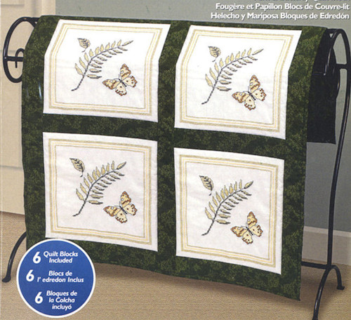 Janlynn - Fern and Butterfly Quilt Blocks