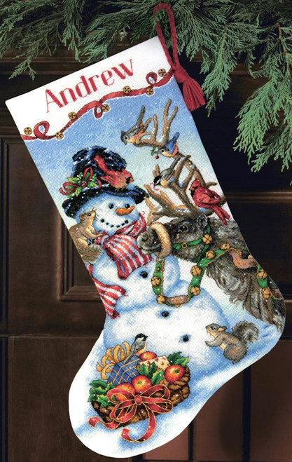 Gold Collection - Snowman Gathering Stocking