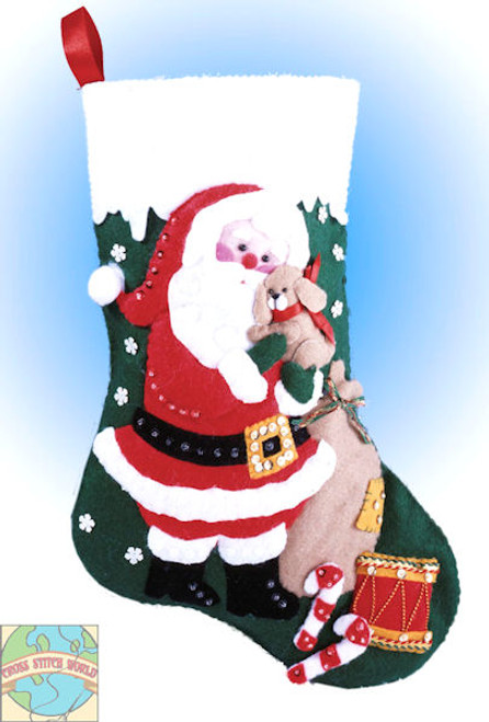 Design Works - Santa and Puppy Stocking
