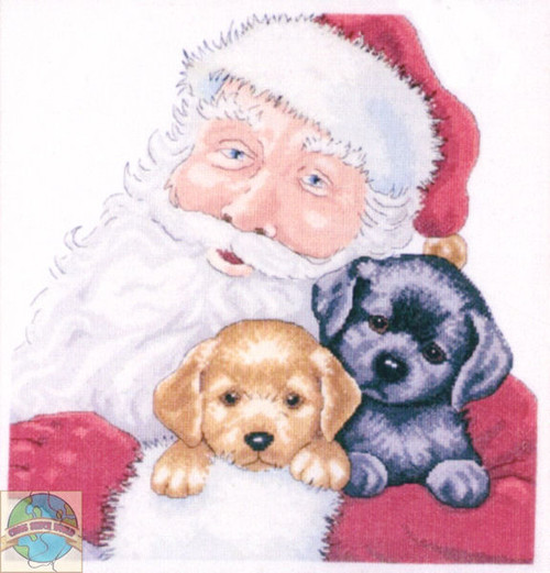 Design Works - Santa with Puppies