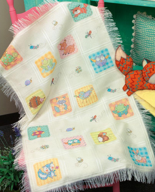 Dimensions - Woodland Creatures Afghan