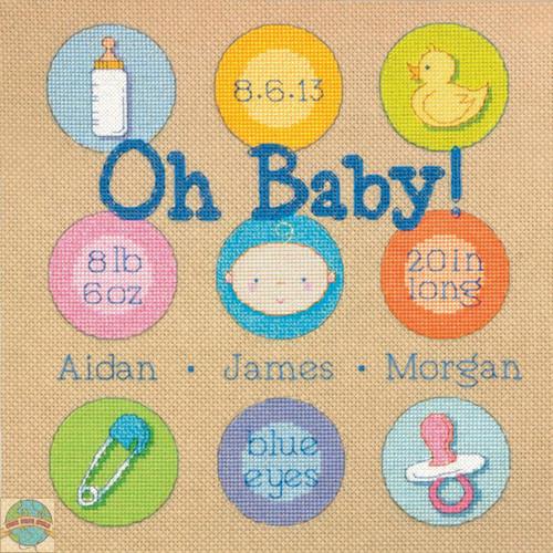 Dimensions - Baby Dots Birth Record - SALE!