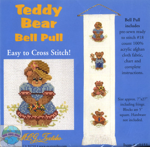 <font size=3>Candamar - Teddy Bear Bell Pull