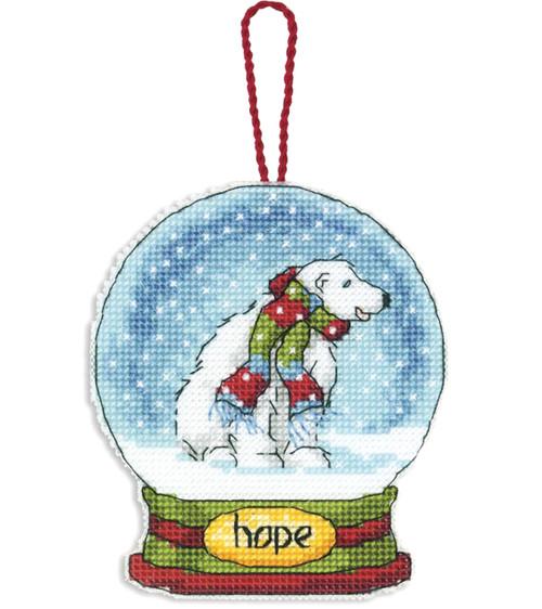 Dimensions - Hope Snow Globe Christmas Ornament