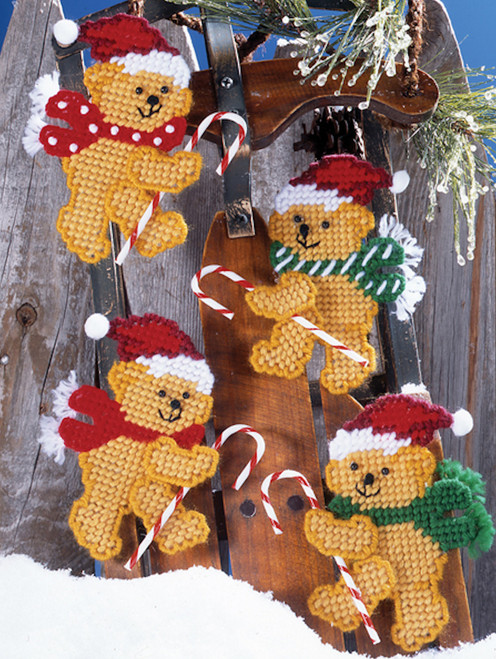 Design Works - Candy Cane Bears Ornaments (4)