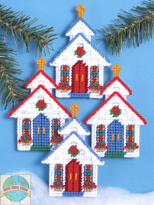 Design Works - Church Ornament Set (4)