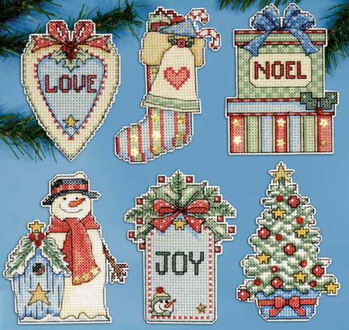 Design Works - Country Christmas Ornament Set (6)