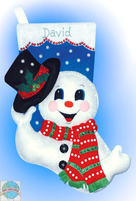 Design Works - Snowman with Hat Stocking