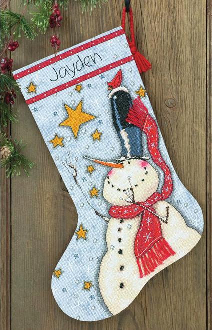 Dimensions - Tall Hat Snowman Stocking