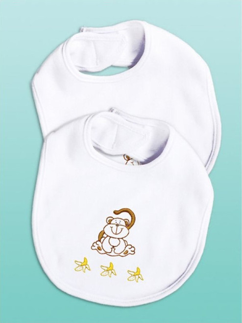 Design Works - Monkey Bib Set