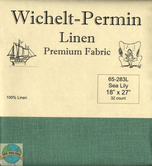 Wichelt - 32 Ct Sea Lily Linen 18 x 27 in