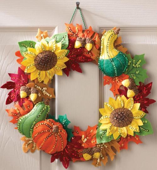 Plaid / Bucilla - Harvest Time Wreath