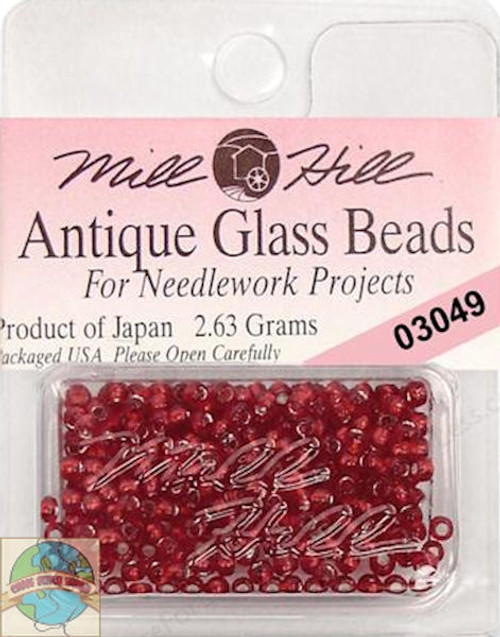 Mill Hill Antique Glass Beads 2.63g Rich Red