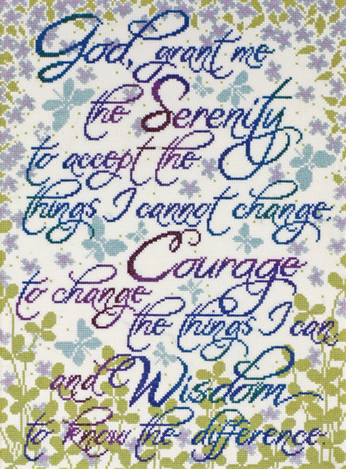 Design Works - Serenity Prayer Floral