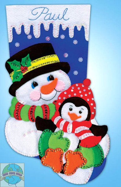 Design Works - Snowman and Penguin Stocking