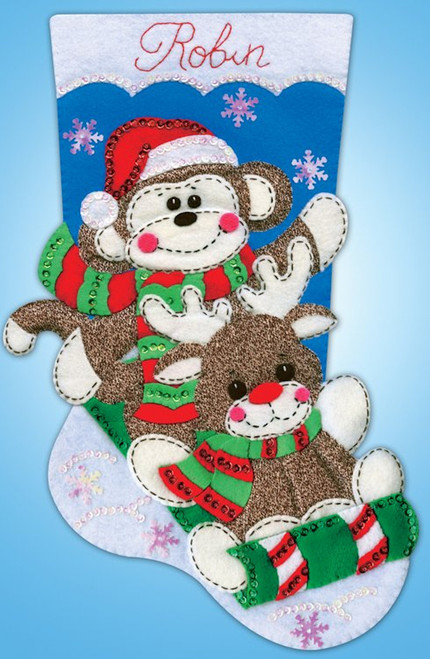 Design Works - Sock Monkey Stocking