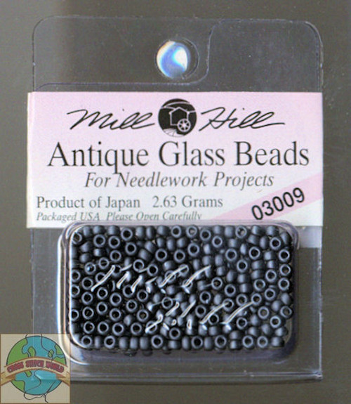 Mill Hill Antique Glass Beads 2.63g Charcoal