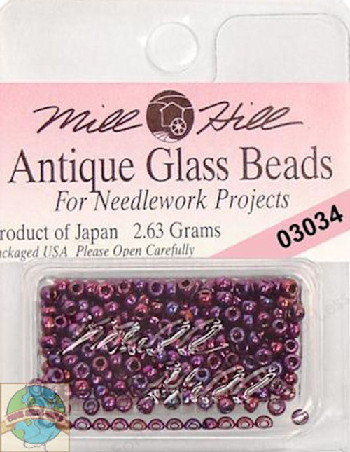 Mill Hill Antique Glass Beads 2.63g Royal Amethyst