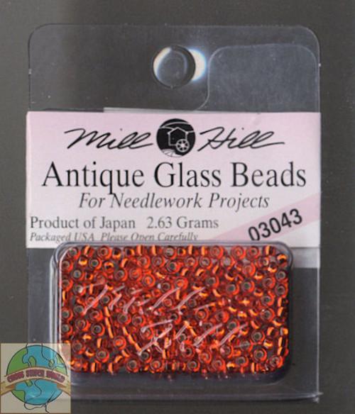 Mill Hill Antique Glass Beads 2.63g Orientl Red
