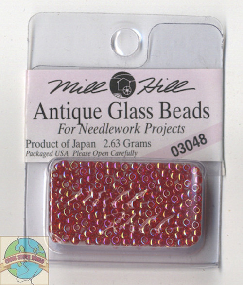 Mill Hill Antique Glass Beads 2.63g Cinnamon Red