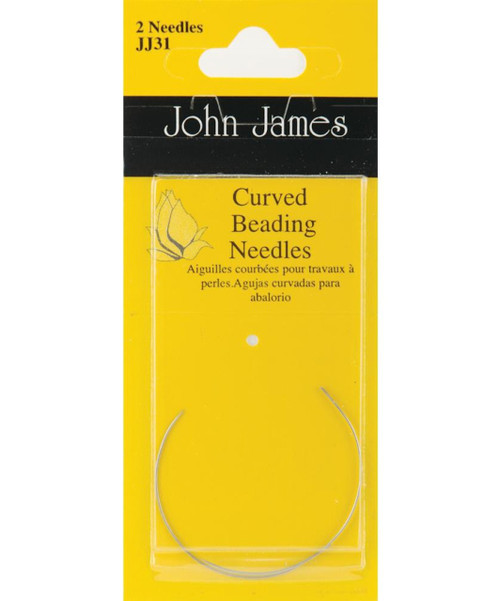 John James - Size 10 Curved Beading Needles (2)