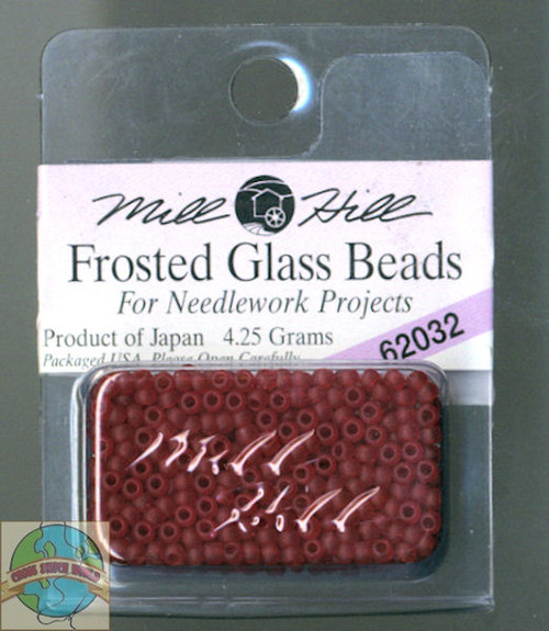 Mill Hill Frosted Glass Seed Beads 4.25g Cranberry