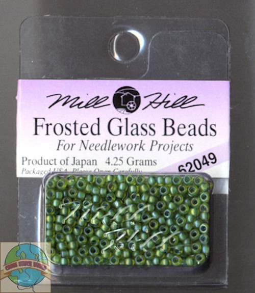 Mill Hill Frosted Glass Seed Beads 4.25g Spring Green