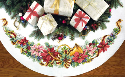 Dimensions - Holiday Harmony Tree Skirt