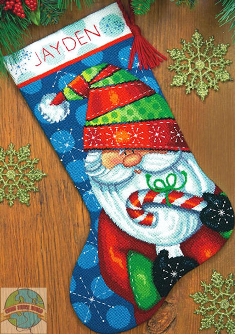 Dimensions - Sweet Santa Stocking