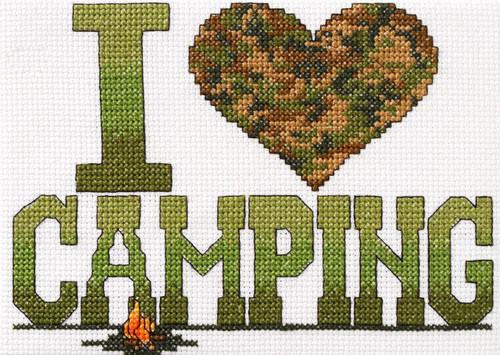 Plaid / Bucilla - I Love Camping