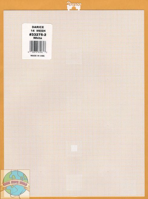 Darice - White Plastic Canvas 14 Ct 8.25 x11in