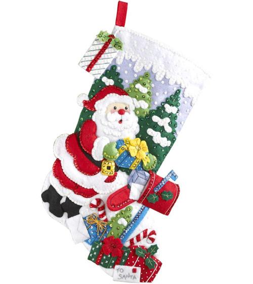 Plaid / Bucilla - Santa's Mailbox Stocking