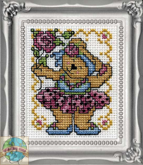 Design Works - Ballerina Bear Picture Kit w/Frame